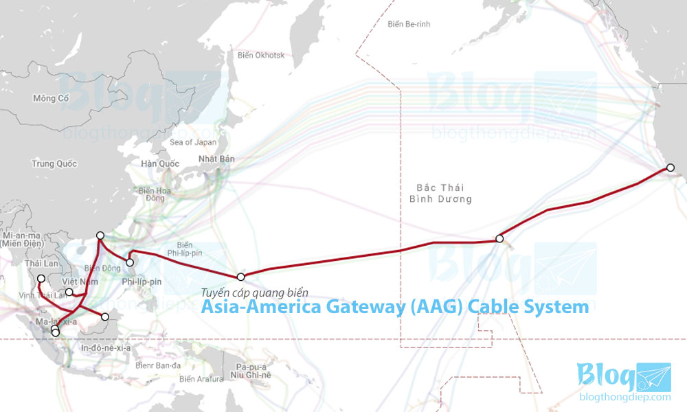 tuyến cáp quan biển Asia-America Gateway (AAG) Cable System